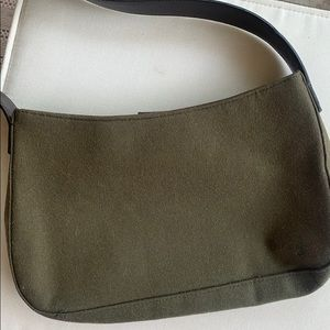 J Crew green wool bag